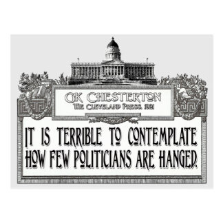 Chesterton on Politicians' Hanging Postcard