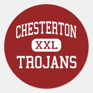 Chesterton - Trojans - High - Chesterton Indiana Classic Round Sticker