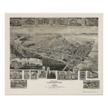 Chestertown, MD Panoramic Map - 1907 Poster