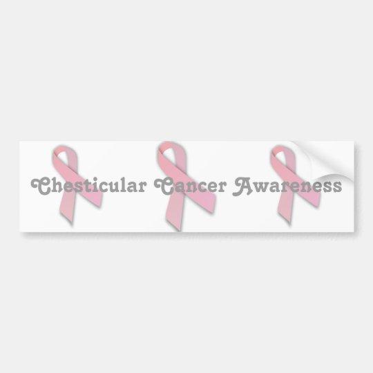 Chesticular Cancer Awareness Bumper Sticker