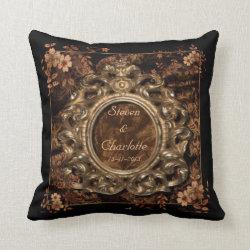 Chestnut Brocade Keepsake Throw Pillow