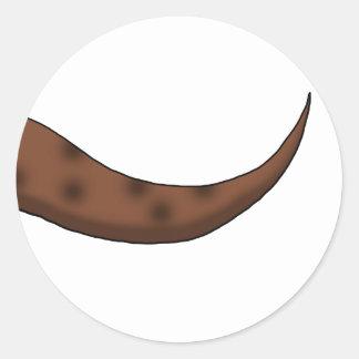 Chestnut Brown Dinosaur Tail Classic Round Sticker