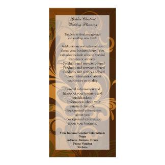 Chestnut Brown/Gold/Green Rack Card/Menu/Program