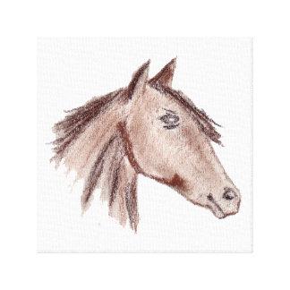 Chestnut Brown Horse Canvas Print