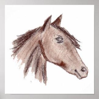 Chestnut Brown Horse Poster