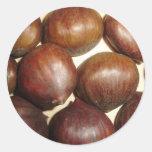 Chestnut Classic Round Sticker