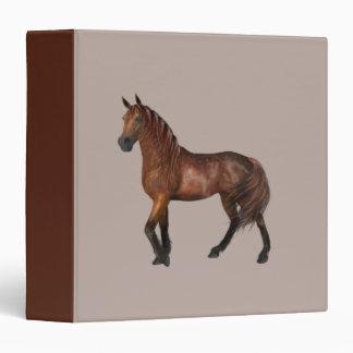 Chestnut Coloured Horse Vinyl Binder