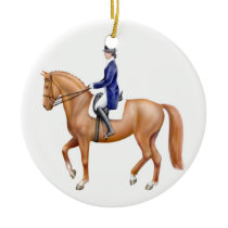 Chestnut Dressage Horse Ornament