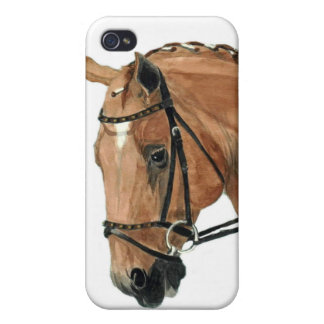 Chestnut Dressage On Contact iPhone 4 Case