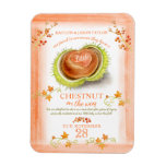 Chestnut fall baby pregnancy announcement magnet
