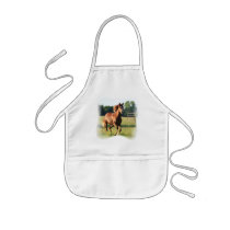 Chestnut Galloping Horse Apron