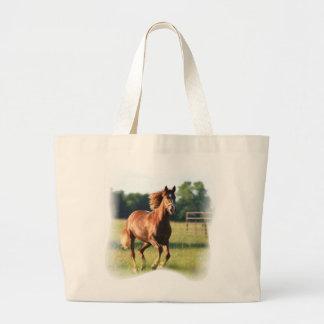 Chestnut Galloping Horse Jumbo Tote Bag
