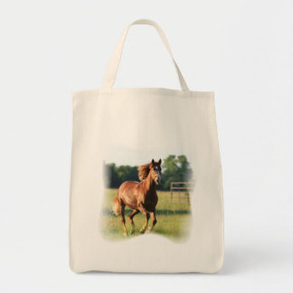 Chestnut Galloping Horse Grocery Tote Grocery Tote Bag