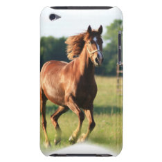 Chestnut Galloping Horse Itouch Case at Zazzle