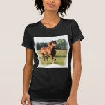 Chestnut Galloping Horse Ladies T-Shirt