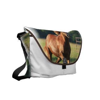 Chestnut Galloping Horse Messenger Bag