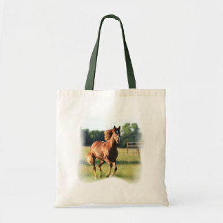 Chestnut Galloping Horse Tote Bag