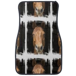 chestnut-horse-4 alfombrilla de coche