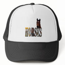 Chestnut Horse And Horses Picture Logo, Trucker Hat
