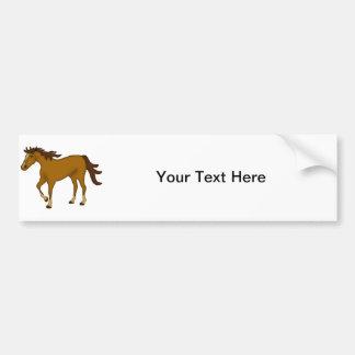 Chestnut Horse Car Bumper Sticker
