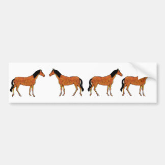 Chestnut Horse Bumper Sticker
