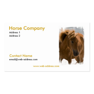 Chestnut Horse Business Card
