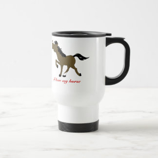 CHESTNUT HORSE COFFEE TRAVEL MUG CUSTOM