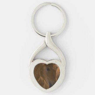 Chestnut Horse Design Keychains