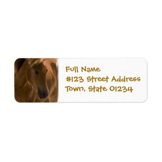 Chestnut Horse Design Return Address Label
