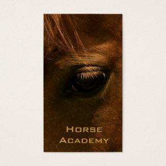 Chestnut Horse Eye Business Card