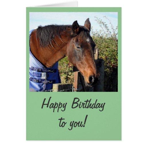 Chestnut Horse 'Happy Birthday' Card