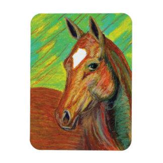 Chestnut Horse Head Art Magnet