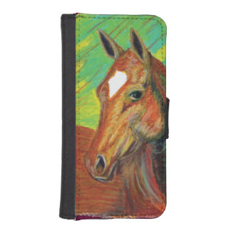 Chestnut Horse Head Art Phone Wallet Cases