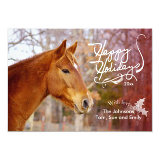 Chestnut Horse Holiday Photo Cards