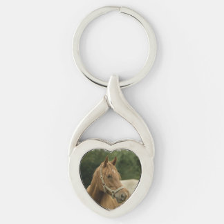 Chestnut Horse in a Field Keychains