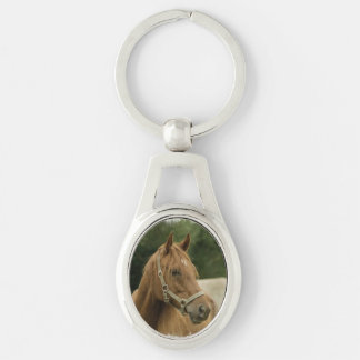 Chestnut Horse in a Field Keychain