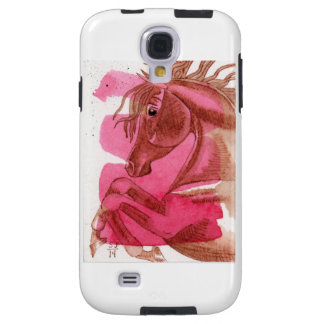 Chestnut Horse On Hot Pink Watercolor Case