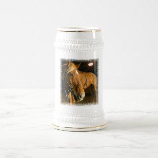 Chestnut Horse Photo Beer Stein 18 Oz Beer Stein