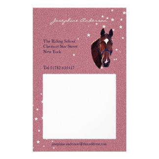 Chestnut Horse Portrait with White Star Stationery