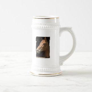 Chestnut Horse Profile Beer Stein 18 Oz Beer Stein