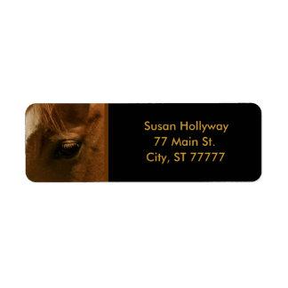 Chestnut Horse Soulful Eye Label