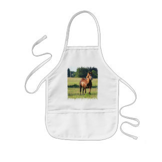 Chestnut Horse Standing Apron