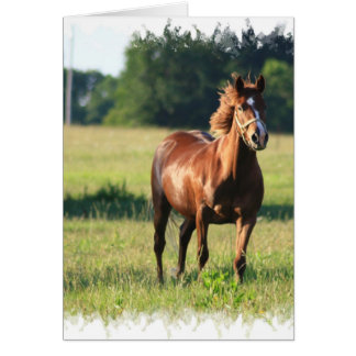 Chestnut Horse Standing Greeting Card