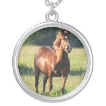 Chestnut Horse Standing Necklace