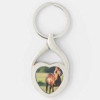 Chestnut Horse Standing Key Chain