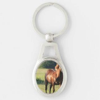 Chestnut Horse Standing Key Chains