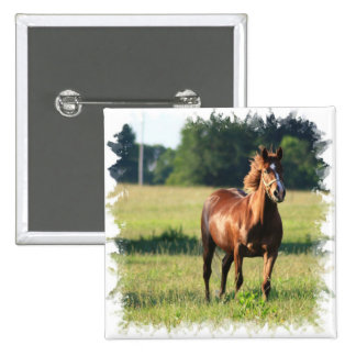 Chestnut Horse Standing Pin