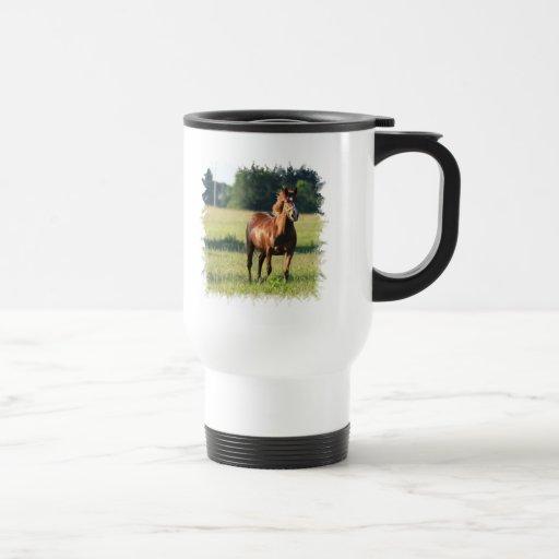 Chestnut Horse Standing Travel Mug