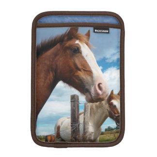 Chestnut Horse with White Blaze Photograph iPad Mini Sleeve