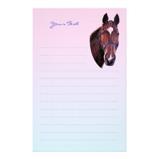 Chestnut Horse with White Star Art Writing Paper